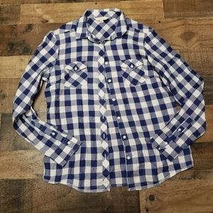 10 Brooks Brothers Blue Gingham Button Up